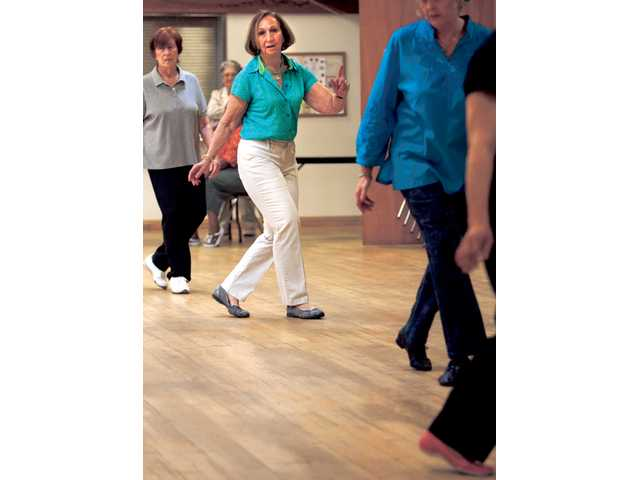 Seniors line up during a Tuesday morning line dancing class at the Santa Clarita Senior Center in Newhall. The group meets at 9:30 a.m. every Tuesday and Thursday.