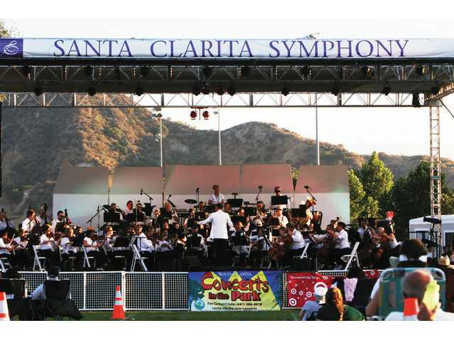 The Santa Clarita Symphony kicked off the city's annual Concerts in the Park series Saturday eveningin Central Park, performing a selection of all-American music to salute the country's Independence Day weekend.
