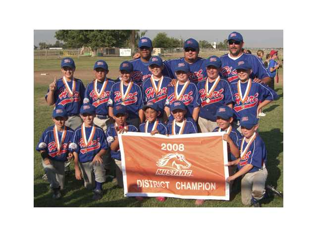 Hart PONY Mustang Blue team wins district