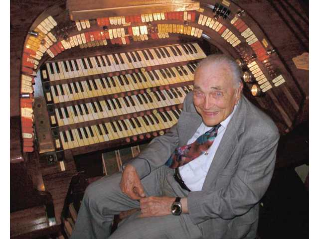 Bob Mitchell at the organ - he was the first organist to play at Dodger Stadium and he was a popular figure at silent film screenings at Heritage Junction in Newhall, where his live music accompanied the action on screen. He died last Saturday at age 96.