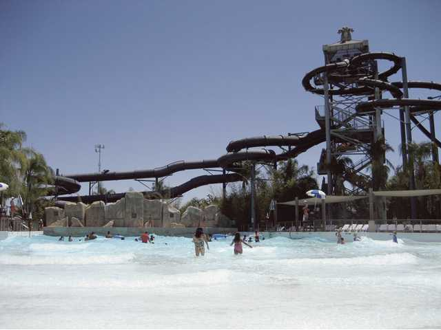 Waves of fun at Six Flags Hurricane Harbor.