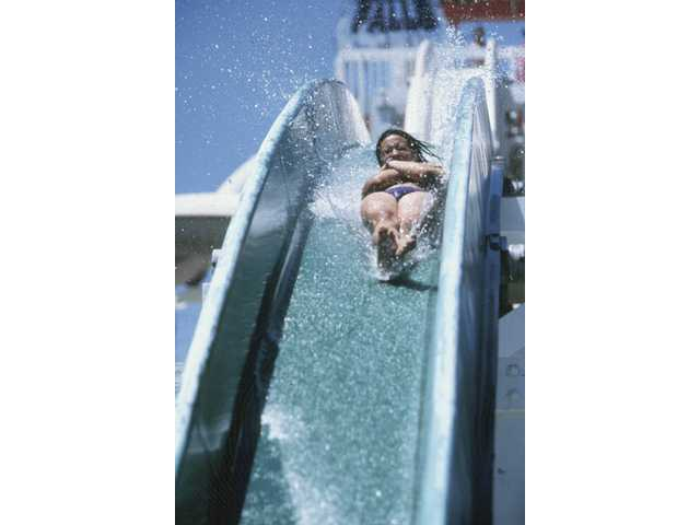 Old Man Falls at Knott's Soak City Water Park in Orange County.