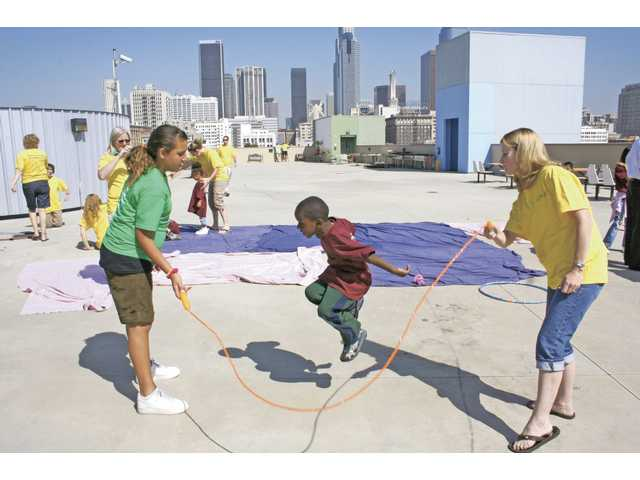 A group from Crossroads Community Church traveled to the Union Rescue Mission in Los Angeles to serve the kids through vacation Bible school activities.