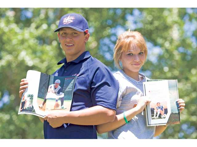 "Christian Lopes, left, and Courtney Proctor, two local athletes, appeared in a Sports Illustrated ""Where will they be?"" article this week."