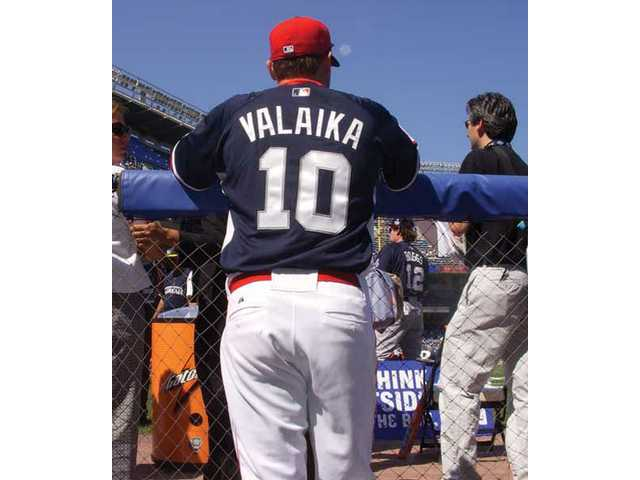 Former Hart star Chris Valaika went 0-for-1 in his only plate appearance Sunday in the Future's Game.