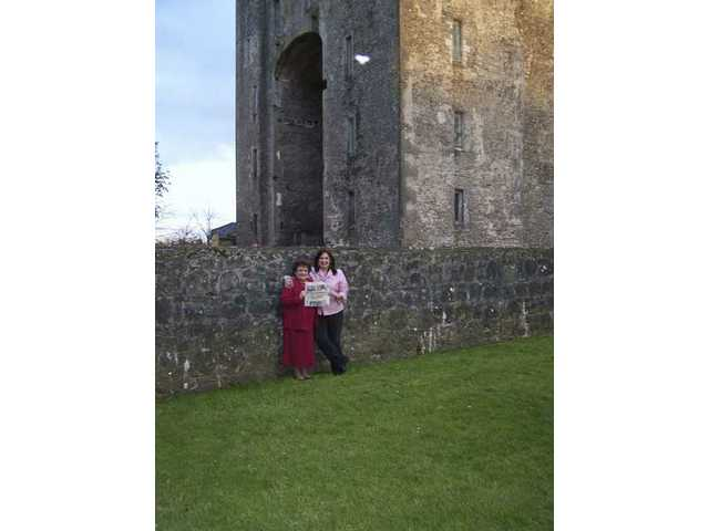 Darlene D'Amico of Newhall and her mother Virigina D'Amico traveled througout Ireland in April. The Signal went along to a medieval banquet and to Bunratty Castle in County Clare, pictured in the background.