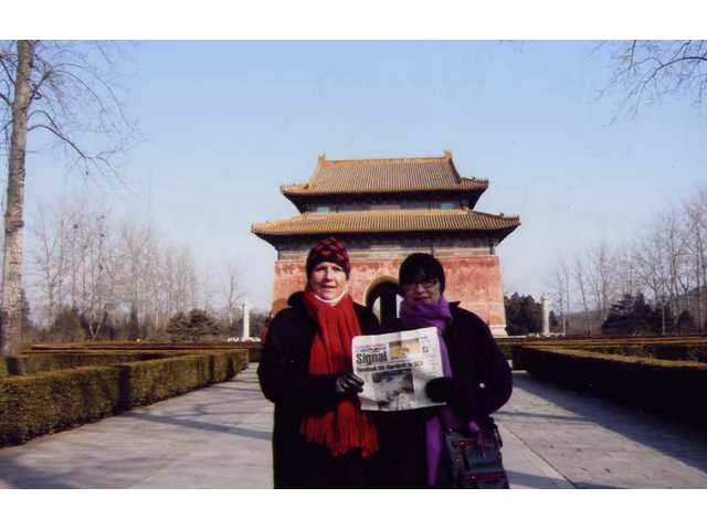 Ulla Rincon and Cynthia Arance visited the Ming Tombs in Beijing, China in February.