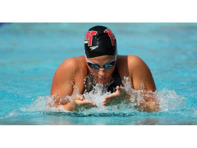 Hart swimmer Jordan Danny in action this season.