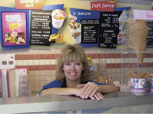 "Sue Proctor is the owner of the Baskin-Robbins on Bouquet Canyon Road in Saugus. ""Come in for your cool summer fun,"" she said."