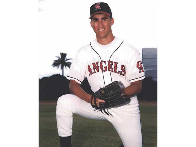 Pitcher Andrew Lorraine poses for a picture as a member of the California Angels in 1994.