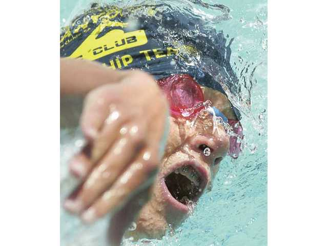 Matthew Johnson, of Valencia, competes in the boys 800-meter freestyle at the 2009 Southern California Swimming Junior Olympics held at the Santa Clarita Aquatics Center.