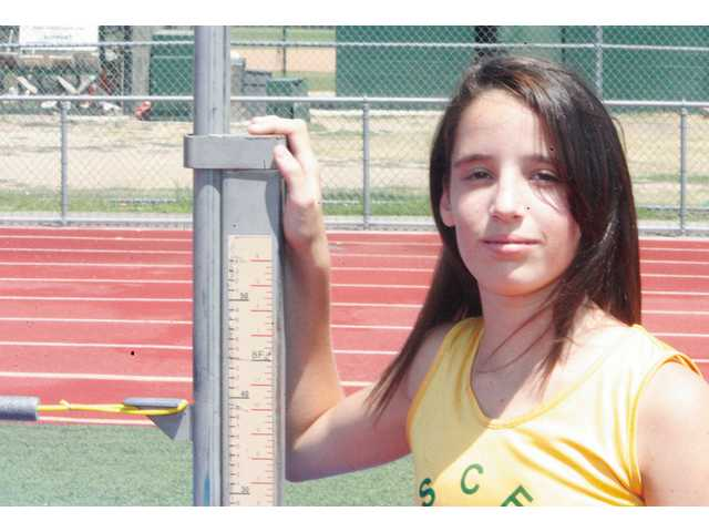 Eleven-year-old high jumper Cassie Naranjo, of Valencia has been ranked as high as No. 1 in the U.S. in her event. She's currently ranked third.