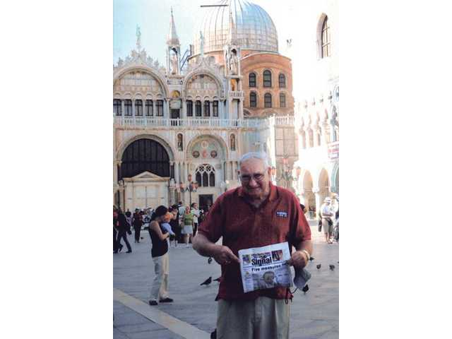 Don Rimac stands in front of the cathedral church of Venice — otherwise known as Saint Mark's Basilica — while visiting Italy in May. Rimac was part of a group of four couples who took a Mediterranean cruise to celebrate a friends 60th birthday.