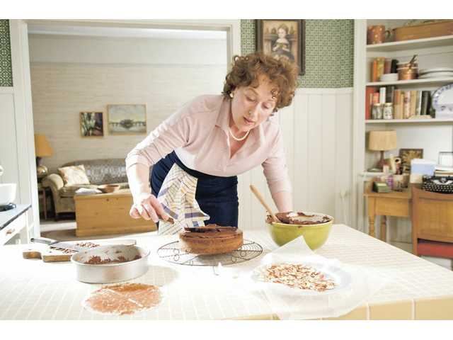 "Meryl Streep portrays Julia Child in a scene from Columbia Pictures' ""Julie & Julia,"" which opens this week."