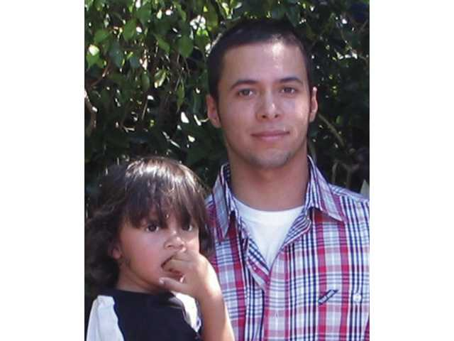 Alan Poggio, 23, pictured with his 3-year-old, Julius, was killed in a traffic collison on Interstate 5 Monday afternoon. Alan was the brother of Lindsay Poggio, who died in the same collision.