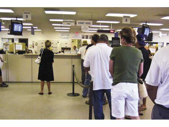 The California Department of Motor Vehicles office in Newhall will see shorter hours for the rest of August due to the state budget impasse.
