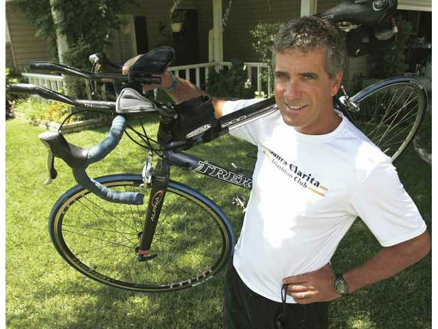 Valencia resident and local triathlete David Hartmire has been participating in events for the last four years as a way to better his health and stay in shape.
