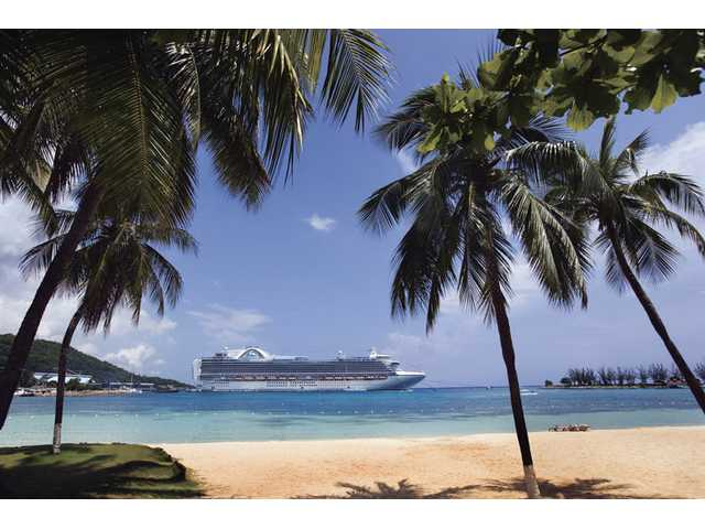 Many gorgeous tropical destinations are ports of call for cruise ships.