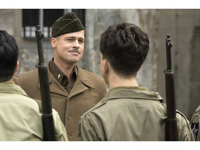 "Brad Pitt is shown in a scene from the Weinstein Company's ""Inglourious Basterds,"" which opens this week."