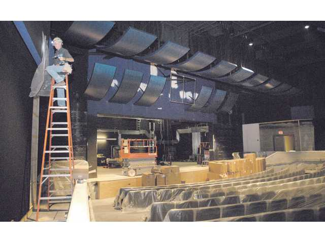 Work continues on the Performing Arts Center at West Ranch High School, one of two local schools that will soon have its own theater; Golden Valley is the other. The cost of both projects is estimated at $5 million, and is being funded primarily by Measure V, a $160 million bond measure passed in 2001.