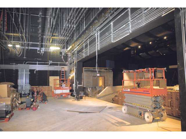 Work continues on a new performing arts center at West Ranch High School, which was paid for by Measure V, passed in 2001.