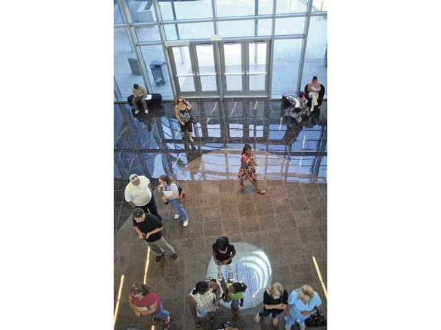 People make their way into the Dr. Dianne G. Van Hook University Center for its open house Thursday afternoon.