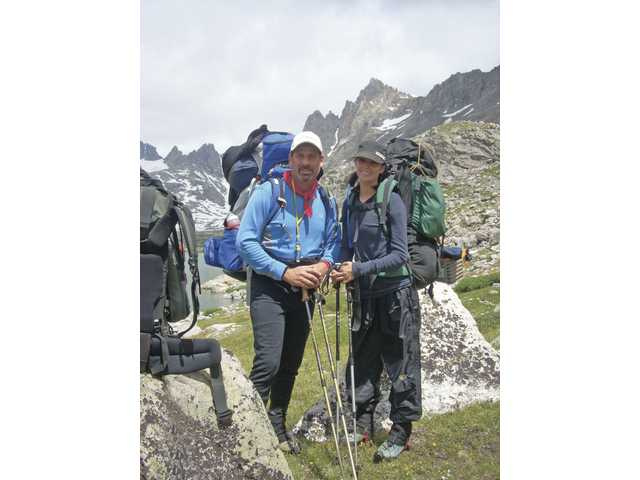 Andrew Pfeffer and his daughter Katie, of Saugus, spent the last week of July hiking around the area of Gannett Peak in Wyoming, which is the highest mountain in the state.
