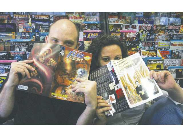 Atom! and Portlyn Freeman have owned Brave New World Comics in on Lyons Avenue in Newhall since 2000. The couple sees comic books as one more tool to get youngsters interested in reading.