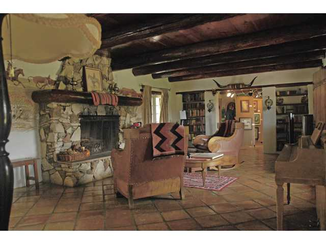 Though the decor inside the ranch house is Western in theme, it came from the Clougherty family, who purchased the ranch from the Carey family in 1952.