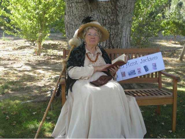 Suzanne Lawrence portrays Helen Hunt Jackson during last year's Ramona Days.