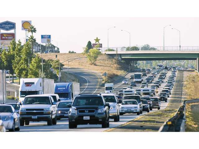 The I-5 freeway was packed on Monday afternoon as people return to L.A. after the Labor Day holiday weekend.