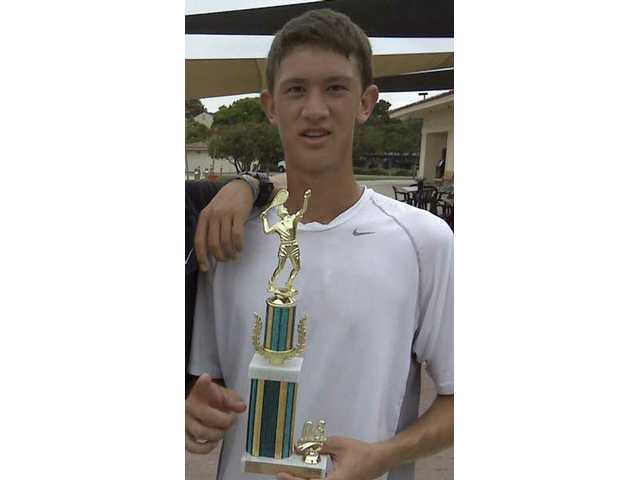Valencia tennis player Tyler Gottshall won the San Diego Junior Doubles tournament.