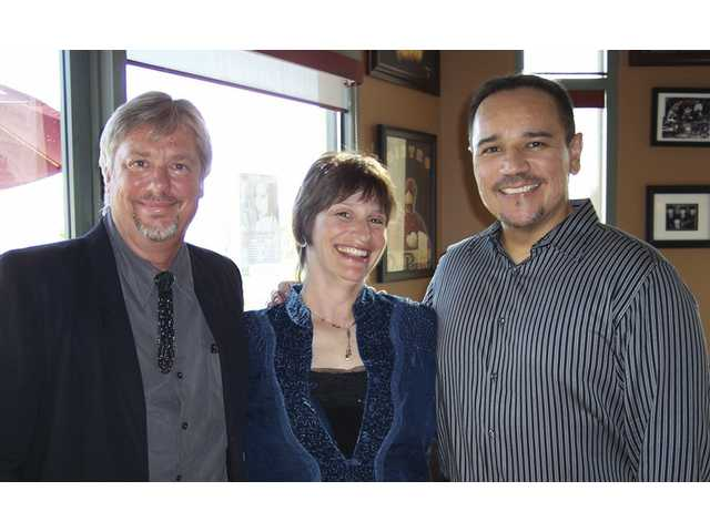 "(Left to right) Dennis Poore, Katherine Lench-Meyering and Charles Herrera entertained seniors from the Fountain Glen senior apartments at the Off Broadway Bistro in Valencia. The trio performed show tunes and standards at two shows held for the seniors, who also enjoyed a ""price fixe"" dinner. Poore is a TV, theater and film composer. Lench-Meyering and Herrera have appeared in musical theater nationwide. Lench-Meyering is a voice teacher in the Santa Clarita Valley."