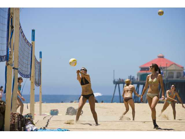 Volleyball at Huntington Beach.