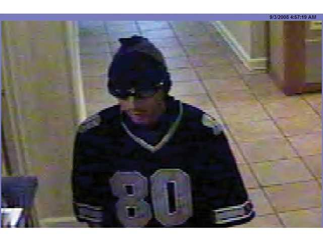 Contact the Santa Clarita Valley Sheriff's Station at (661) 255-1121 if you know the identity of the suspect pictured above.