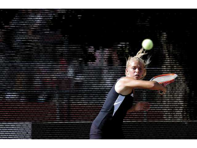 Valencia senior Isabella Fraczyek is one of the top singles tennis players in the Foothill League. Valencia will try to defend its title again this season after winning six straight league championships.