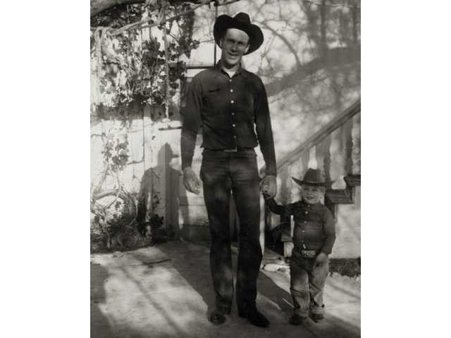 "Richard ""Diamond"" Farnsworth and son Richard ""Little Diamond"" Farnsworth are pictured in the early 1950s."