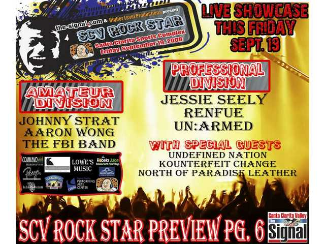 It's Escape's exclusive preview of SCV Rock Star Night, published in The Signal Friday, Sept. 19.