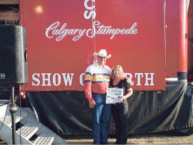 Dick Koetsier and Jamie Nudie visited the Calgary Stampede in Canada in September.