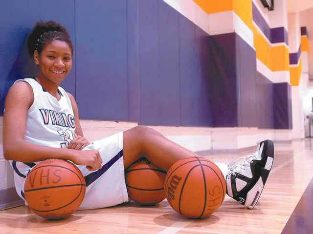Valencia High junior forward Starla Wright, a transfer from Chatsworth High, has become the Vikings' leading scorer in Foothill League play. She's third in the league at 15.7 points per game through six contests.