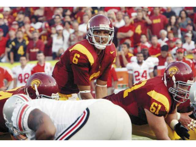 Trojans quarterback Mark Sanchez prepares to take the snap against Ohio State on Sept. 13.