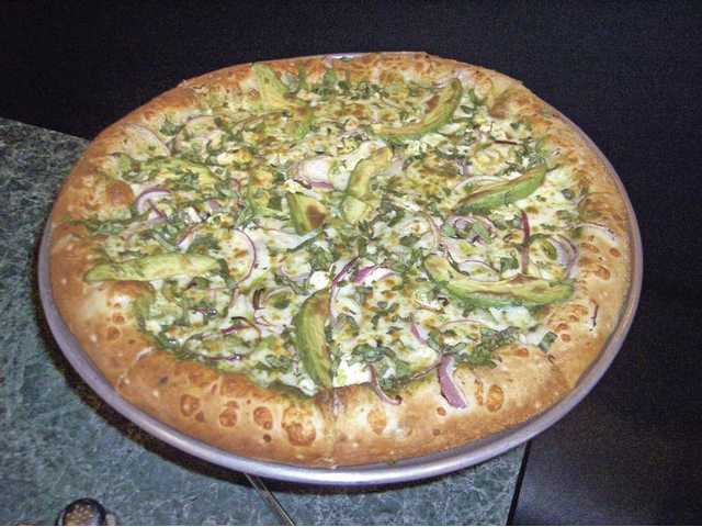 The Stonefireu0027s Favorite Pizza ($13.99 To $16.99) With Pesto, Avocado, ...