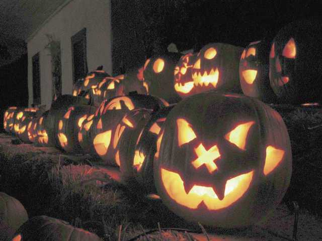 Good old-time Halloween accents, such as Jack-o'-lanterns, can be found along with the animated scares.