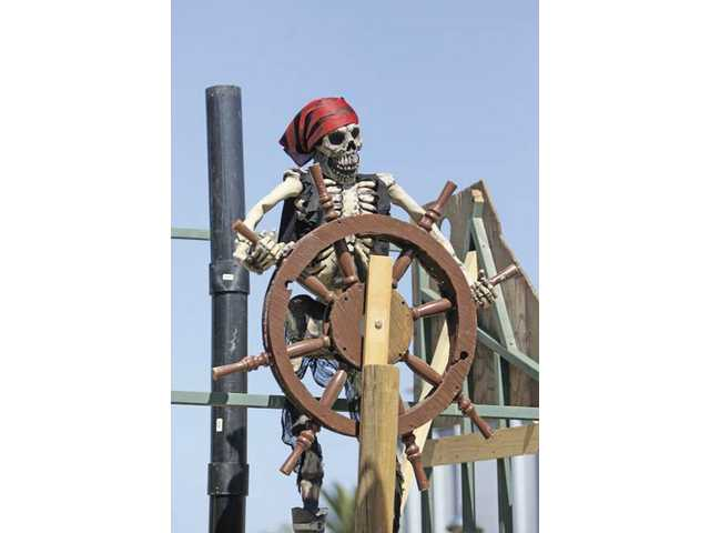 The pirate ship at Chewy's Pirate Cove will be ready to set sail when Heritage Haunt opens on Oct. 17.