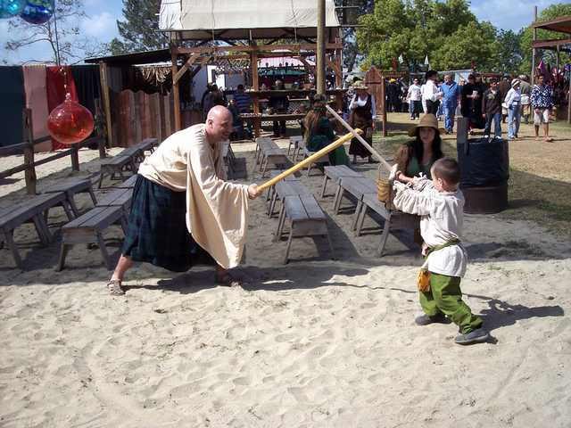 A typical family outing at the 47th annual Renaissance Pleasure Faire and Artisans Market. The Faire will run weekends through May 17 at the Santa Fe Dam Recreation Area in Irwindale.