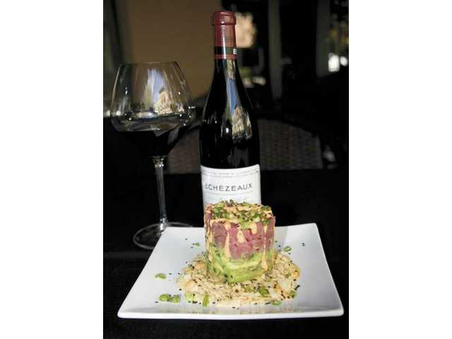 Ahi Tuna Tartar is one of the several light dishes featured at Lee's Wine Bistro.