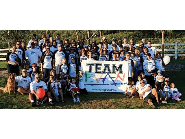 """Marina Contreras' group """"Team Evan,"""" who walked for Evan Gabor, a Santa Clarita Valley 3-year old diagnosed with leukemiamore thana year ago, was the Leukemia & Lymphoma Society's top Friends and Family Team of 2008."""