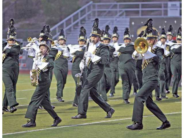 The Canyon High band performs in the Wildcat Classic Saturday at Valencia High.