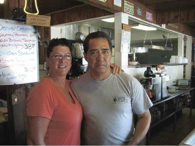 Longtime cafe employees Sally Moore and Efrain Rosales.