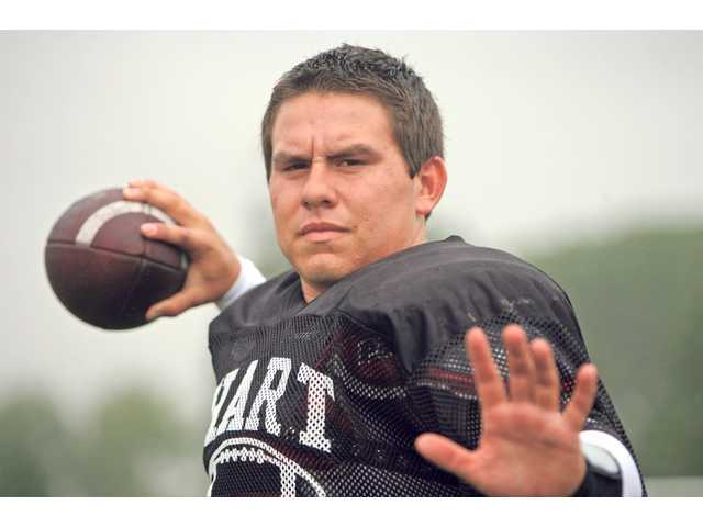 Despite being undersized, Hart High School quarterback C.J. Reyes has helped put the team in position to reassert its Foothill League prowess.